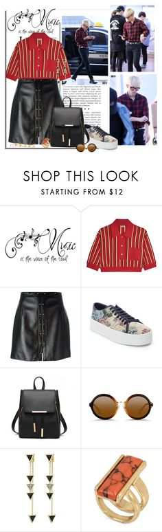 """iKON"" by nikol128 ❤ liked on Polyvore featuring Miu Miu, Magda Butrym, Yves Saint Laurent, 3.1 Phillip Lim, House of Harlow 1960, Kenneth Cole, Kendra Scott, ikon and donghyuk"