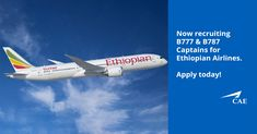 Attention Boeing Captains! Do want to enhance your career & fly the B777 & B787 with one of the leading airlines in Africa? We are recruiting experienced B777 & B787 Captains for Ethiopian Airlines on a permanent contract. Earn a very competitive salary plus other benefits. Apply now!