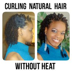 One thing that makes some naturals nervous is getting luscious curls from curling that require entirely too much heat. Find out how curl without heat.