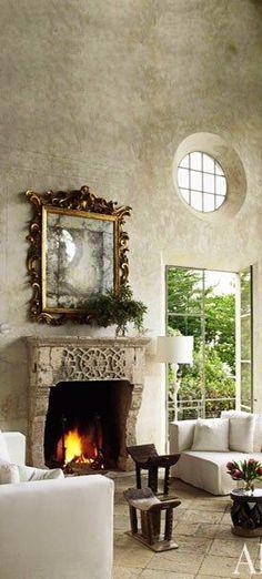 Mirror & Fireplace