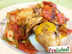 Cosce di Pollo con Peperoni - Ricetta - Ingredienti, Preparazione passo passo e Consigli Utili per ottenere le Cosce di pollo ai peperoni.