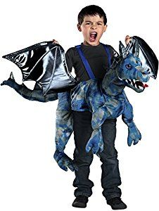 Amazon.com: Princess Paradise Ride-In Dragon Costume, Blue, One Size: Toys & Games