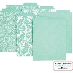 white and teal martha stewart office supplies - Google Search