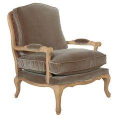 Chantal Velvet Chair - Mole Brown #oka #velvet #chair