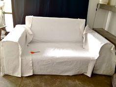"White Cover for my Armchair: Almost-Tutorial Part Funda Blanca para mi Sillón: ""Casi-Tutorial Parte White Cover for my Armchair: -"