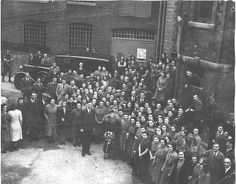 A visit by Queen Mary to Palmer and Mackay cloth mill in 1943. Trowbridge  cloth clothed her, Prince George, Duke of Kent and Edward VIII