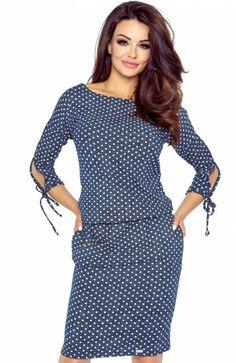 56babbf66d Bergamo 84-01 sukienka jeans kropki - Sukienki damskie Bergamo - Sukienki  na cio dzień - Sportowe sukienki - Sklep z odzieżą