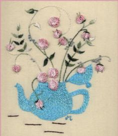 """** """"Tea Time""""  Brazilian Dimensional Embroidery Pattern  @jdr-be"""