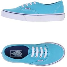 Vans Sneakers ($102) ❤ liked on Polyvore featuring shoes, sneakers, sky blue, round toe sneakers, vans shoes, vans footwear, flat sneakers and flat shoes