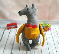 Check out this item in my Etsy shop https://www.etsy.com/uk/listing/581339704/wool-felt-toy-stuffed-wolf-woodland