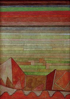Blick in das Fruchtland (View of the Fertile Country) 1932 by Paul Klee. Massive range of art prints. Klimt, Bauhaus, Städel Museum, Framing Canvas Art, Paul Klee Art, Design Theory, Wassily Kandinsky, Sculpture, Abstract Art