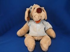 New product 'Ganzbros Full Body Puppet Wrinkles Tan Girl Dog Blue Dress Bows' added to Dirty Butter Plush Animal Shoppe! - $12.00 - GANZBROS Heritage Collection Plush 18 inch Full Body Puppet Wrinkles - Cream Tan Girl Dog - Brown Nose - Rust Tongue - P…