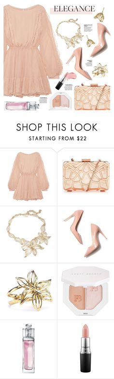 """#115"" by just-a-girl-with-thoughts ❤ liked on Polyvore featuring LoveShackFancy, Oscar de la Renta, M. Gemi, Lumière, Puma, Christian Dior, MAC Cosmetics and minibags"
