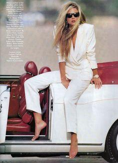 US Vogue February 1990 Rachel Williams by Patrick Demarchelier and Carlyne Cerf de Dudzeele