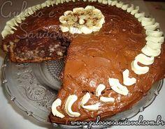 Receita de Bolo de Chocolate com Creme de Avelã
