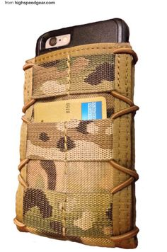 iTaco MultiCam phone holder from High Speed Gear.