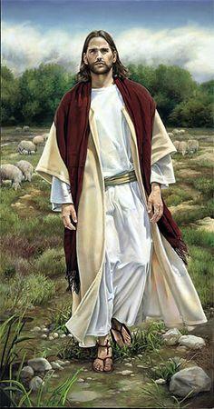 Seeking the One portrait of Jesus by Liz Lemon Swindle
