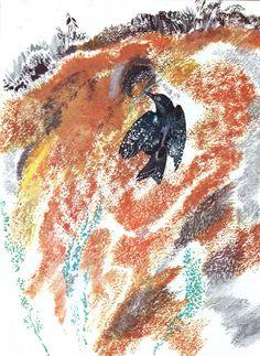 рисунки никиты чарушина,  с севера на юг 1987