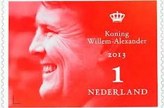 Postzegel Koning Willem Alexander 2013.
