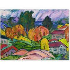 Trademark Fine Art Tropican Sunset Canvas Art by Jennifer Lilya, Size: 18 x 24, Multicolor