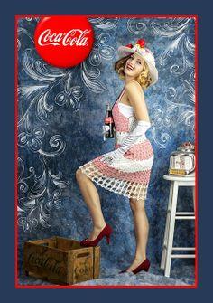 Olsen Art photography take on recreating a Coke Cola Advertisement with Model Amanda Walker