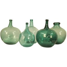 Fireside Antiques - 20th Century Italian Turquoise wine/oil jars - 1stdibs / View 1