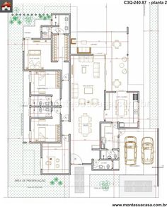 Planos House Layout Plans, Dream House Plans, Modern House Plans, House Layouts, House Floor Plans, Activity Room, House Map, Dome House, Floor Layout