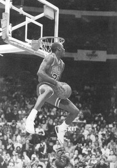 Michael Jordan dunk contest. Slam dunk photos. Best dunks on Pinterest. Dunk pics. #47straight #basketball