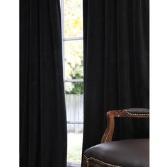 The morning light will never wake you again when you use these chic blackout curtain panels. These 120-inch long curtains in black velvet will complement any modern decor while insulating your windows to make your rooms more energy-efficient.