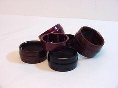 6 art deco bakelite napkin rings