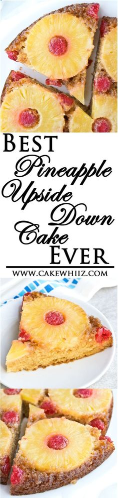 This is the BEST pineapple upside down cake recipe ever. Super moist and fruity and beautiful too! From cakewhiz.com