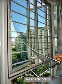About magnetic Insect Screen flyscreen bug screen that can fitted on casement louvre sliding type windows in Singapore.