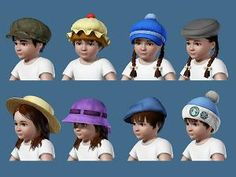 Mod The Sims - Toddler Accessoire Hats