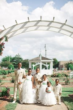 Adorable Flower Girls and Ring Bearers for a Rose Garden Wedding | Andrew and Tianna Photography on @tidewatertulle via @aislesociety