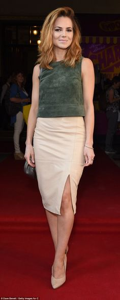 Her golden ticket: Kara Tointon showed off her enviable legs at a special Charlie and the Chocolate Factory performance