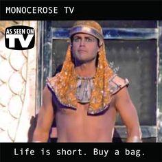life is short buy a bag! #bag #life #monocerose #egypt #tv