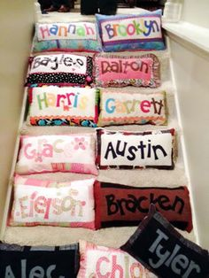 Personalized Name Pillows Sewing Pattern --You Can MAke This . com