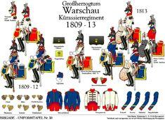 Duchy of Warsaw; 14th Cuirassier Regiment, 1809-13