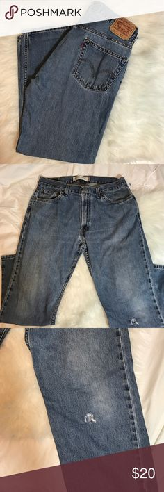 Levi's Men's 505 Jeans W 36 L30 regular fit, tiny distressed shown last picture Levi's Jeans Relaxed