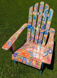 Paisley Pattern I Painted On An Adirondack Chair