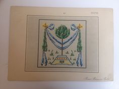 Antique woolwork pattern with trees by Bruno Borner in Berlin | eBay