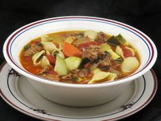Slow Cooker Minestrone Soup with Spicy Italian Sausage