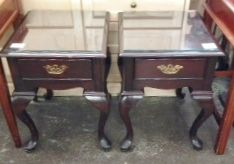 ***Royal York Hotel*** Queen Anne style night stands or side tables. sanded and painted dark grey or a shocking red would totally change the look.  Give yourself a project this year and come see us 92 Arrow Rd North York Ontario canada
