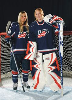 BC Olympians and members of Team USA Women's Hockey, Kelli Stack '10 and Molly Schaus '10. Good luck, ladies!