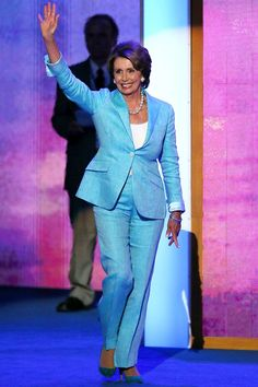 Nancy Pelosi Is America's Most Powerful Power-Suit Boss Signature Look, Powerful Women, Vanity Fair, Woman Quotes, Strong Women, Role Models, Peplum Dress, Classy, Suits