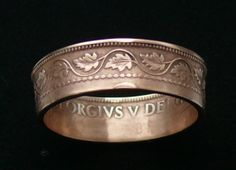 Copper Coin Ring 1915 Canada 1 Cent   Ring by GlobalCoinJewelry, $29.99