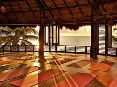 """Mandy Ingber, yoga teacher to the stars (including Jennifer Aniston), loves heading to this """"inspired location"""" in Mexico. Yogaworks offers weeklong retreats at Amansala (also known for its Bikini Bootcamp) a few times a year: You'll stay at the eco-chic resort, starting each morning with an invigorating Vinyasa session, and enjoying workshops and sequences focused on breathing, meditation and relaxation. And there's plenty of time to take in the gorgeous beaches and the nearby ancient Mayan…"""
