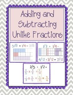 Heres a halloween themed set of problems on adding and adding and subtracting unlike fractions model unit ccuart Gallery