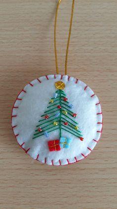Best 11 Christmas felt ornament – Page 360006563968360398 Felt Christmas Decorations, Christmas Ornaments To Make, Christmas Sewing, Felt Ornaments, Diy Christmas Gifts, Christmas Projects, Handmade Christmas, Ornament Crafts, Felt Crafts