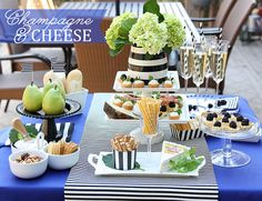 Tips for a Champagne  Cheese Party! from Pizzazzerie.com